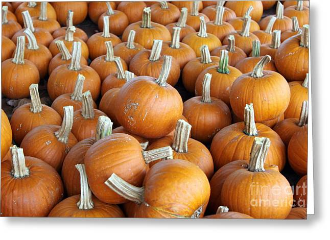 Greeting Card featuring the photograph Pumpkins by Denise Pohl