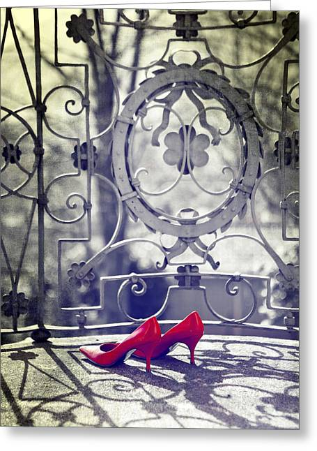 Pumps Greeting Card by Joana Kruse