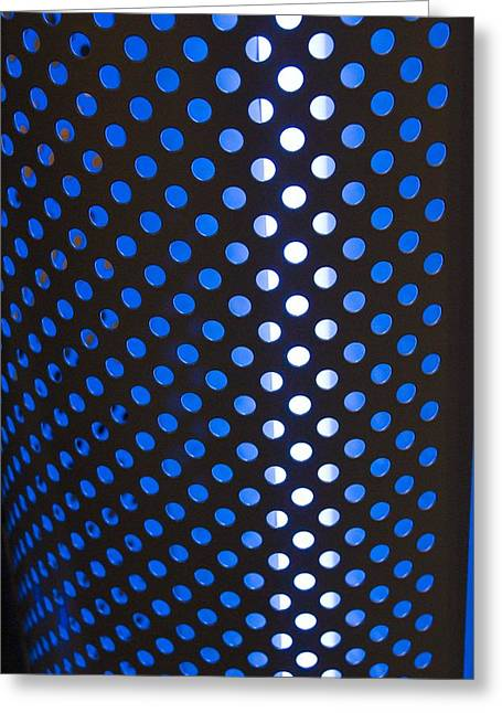 Punched Holes In Aluminium Sheet Greeting Card