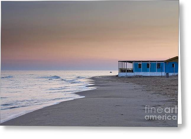 Punta Secca Sunset Greeting Card by Roberto Bettacchi