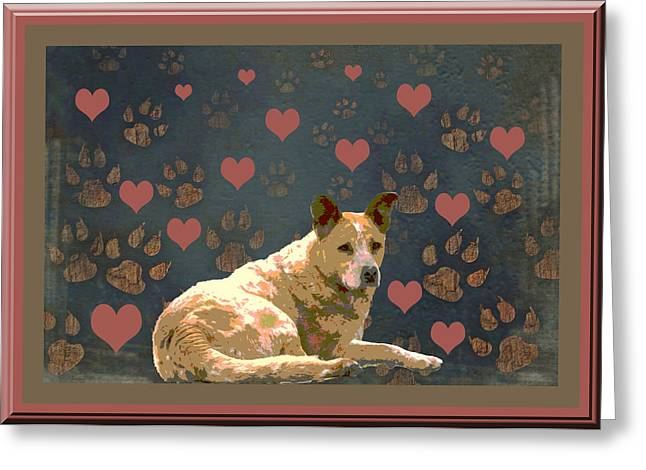 Puppy Love Greeting Card by One Rude Dawg Orcutt