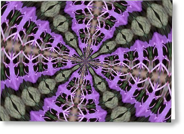 Purple Azaleas Fractal Greeting Card