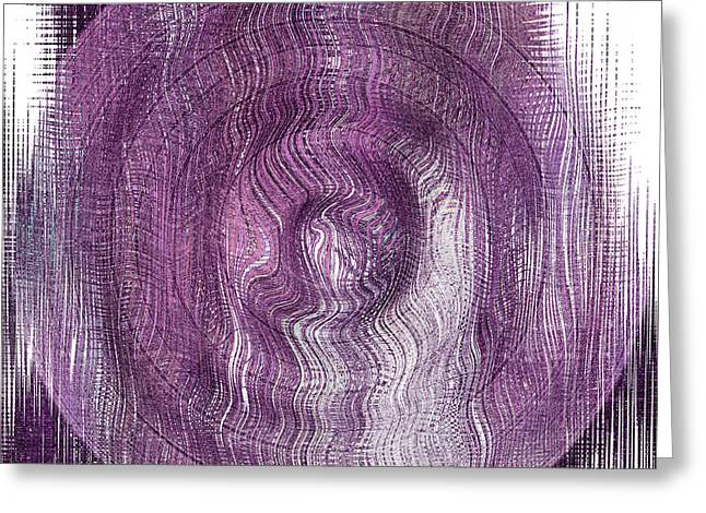 Purple Concentric Circles Greeting Card by Bonnie Bruno