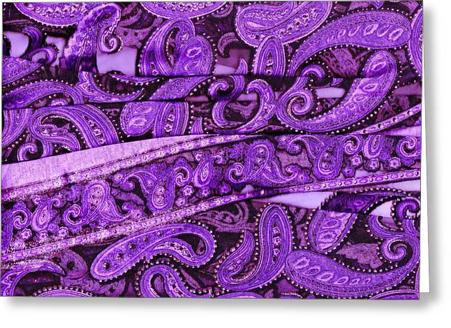 Purple Crossroads With Curves Greeting Card by Anne-Elizabeth Whiteway