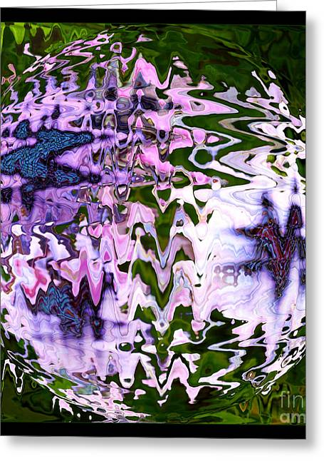 Purple Daisies World - Abstract Art Greeting Card