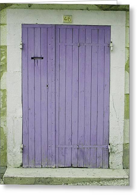 Purple Door Number 46 Greeting Card