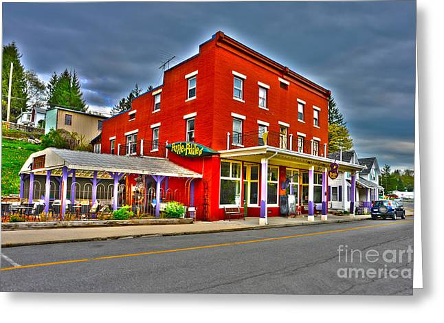 Purple Fiddle In Thomas Wv Greeting Card