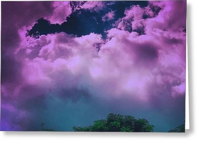 Purple Haze Greeting Card by Cameron Bentley