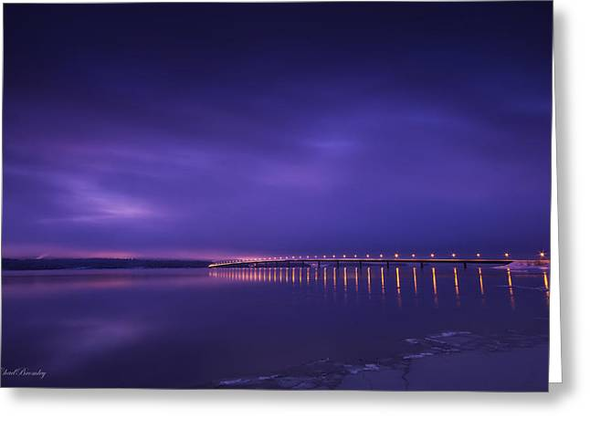 Purple Hazes  Greeting Card by Chad Bromley