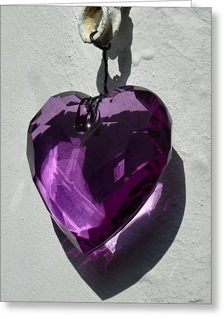 Purple Heart. Greeting Card by Debra Collins