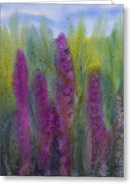 Purple Loosestrife Greeting Card by Debbie Homewood