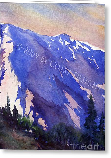 Purple Mountain Greeting Card