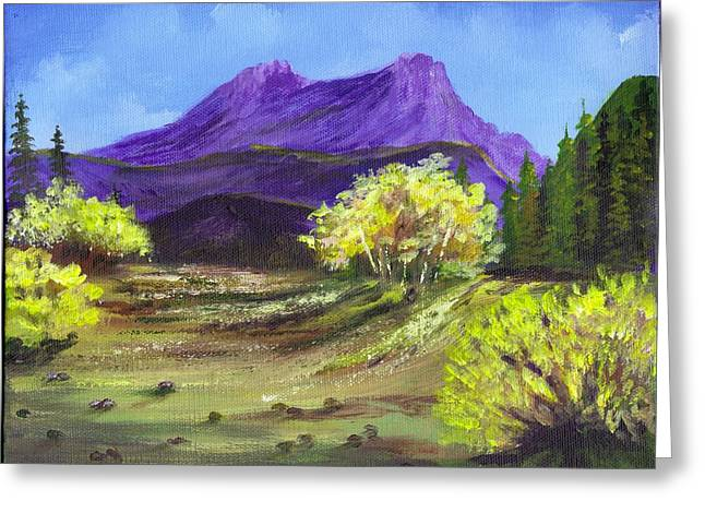 Purple Mountain Beauty Greeting Card by Janna Columbus