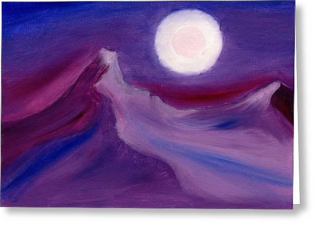 Purple Night 2 Greeting Card by Hakon Soreide