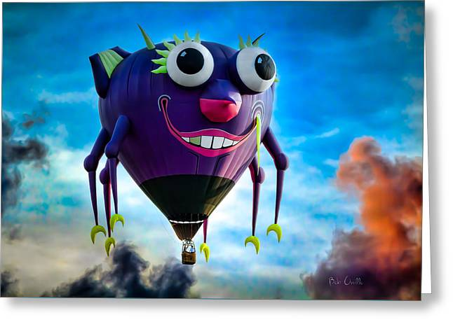 Purple People Eater Greeting Card by Bob Orsillo