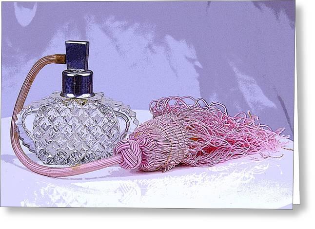 Purple Perfume Greeting Card