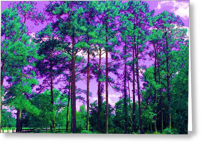 Greeting Card featuring the photograph Purple Sky by George Pedro