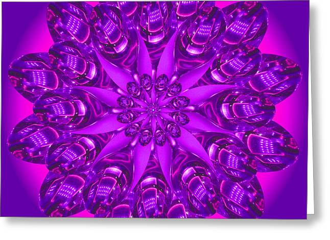 Purple Spoonz Greeting Card by Linda Pope