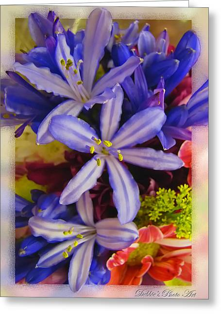 Greeting Card featuring the photograph Purple Stars by Debbie Portwood