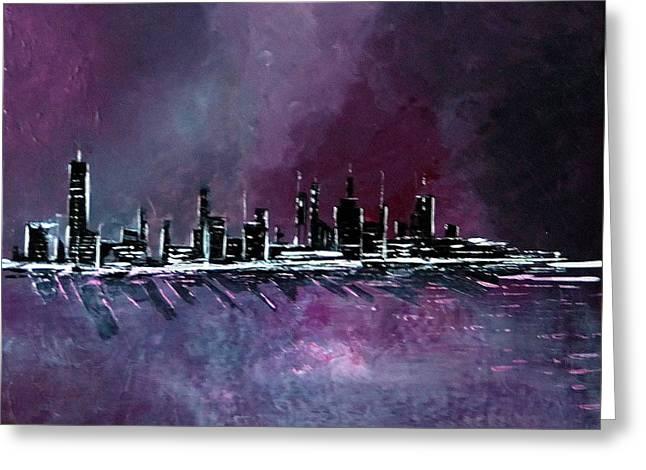 Purple Storm Greeting Card by Rob Heath