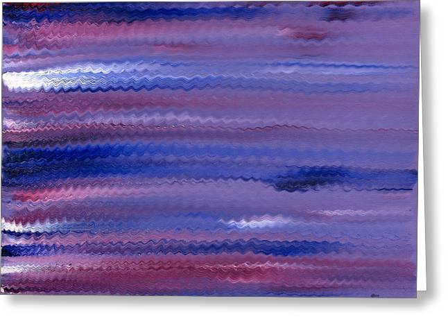 Purple Waves Greeting Card by Hakon Soreide