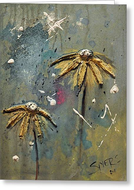 Pushin Up Daisies Greeting Card by Amanda  Sanford