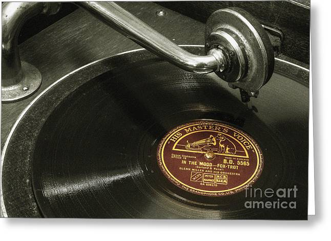 Put The Needle On The Record Greeting Card by Rob Hawkins