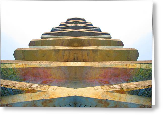 Pyramid Greeting Card by Michele Caporaso