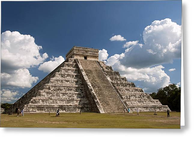 Pyramid Of Kukulcan Greeting Card by Gloria & Richard Maschmeyer