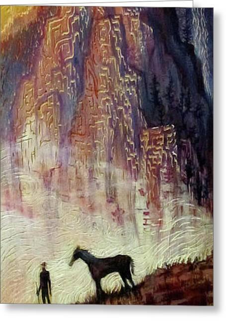 Pyrenees Dream Greeting Card by Michael Langenheim