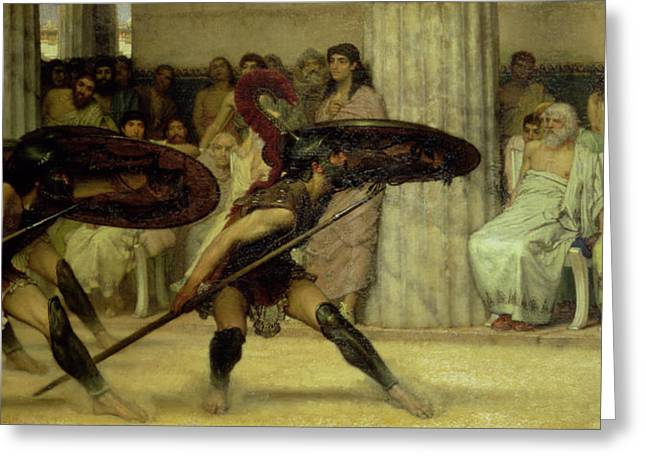 Pyrrhic Dance Greeting Card by Sir Lawrence Alma-Tadema