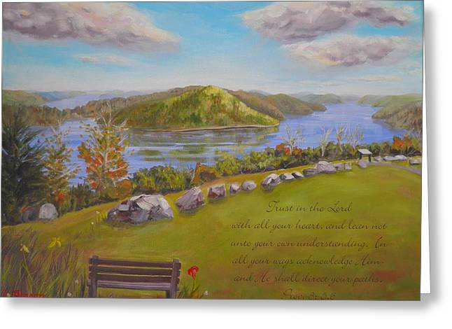 Quabbin Reservoir With Verse Greeting Card