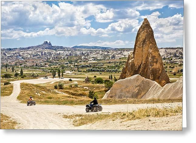Quad Riding In Cappadocia Greeting Card by Kantilal Patel