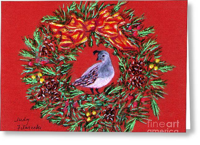 Quail Holiday Greeting Card Greeting Card