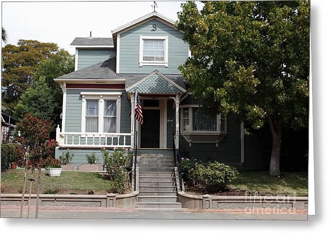 Quaint House Architecture - Benicia California - 5d18594 Greeting Card