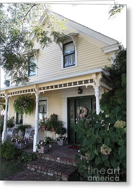 Quaint House Architecture - Benicia California - 5d18794 Greeting Card