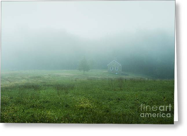 Quaint Stone Cottage Greeting Card by John Greim