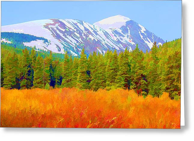Quandary Peak Greeting Card