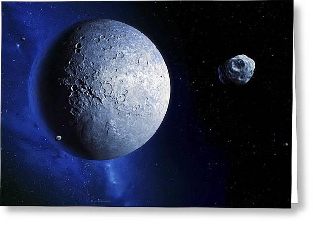 Quaoar In The Kuiper Belt Greeting Card