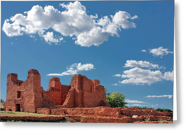 Quarai Ruins At Salinas Pueblo Missions National Monument Greeting Card by Christine Till