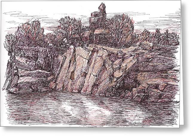 Quarry At Halibut Point Greeting Card