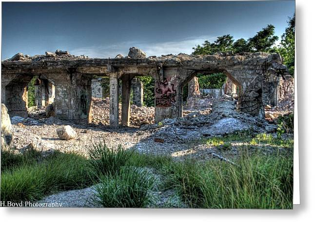 Quarry Ruins Greeting Card by Heather  Boyd