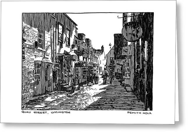 Quay Street Lymington Greeting Card