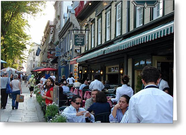 Quebec City Auberge Du Tresor Greeting Card