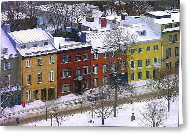 Quebec Streetscene Greeting Card