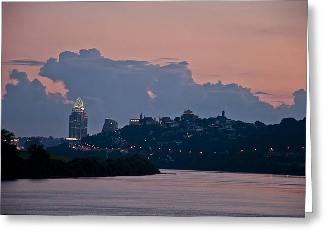 Queen City Via The Ohio River Greeting Card