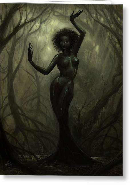 Queen Of Mud Greeting Card by Caroline Jamhour