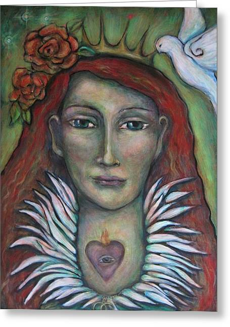 Queen Of My Own Heart Greeting Card by Shoshanna Lightsmith