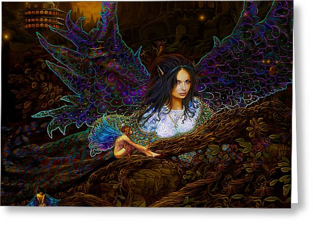 Greeting Card featuring the painting Queen Of The Fairies by Steve Roberts