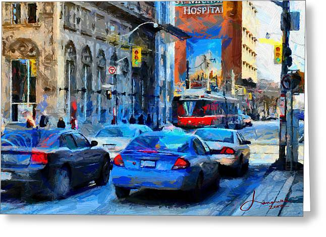 Queen Street East - Toronto Downtown Tnm Greeting Card